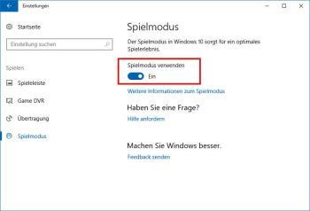Das können Sie von dem Game Mode in Windows 10 erwarten