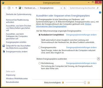 Den aktuellen Energiesparplan unter Windows 10 ansehen und diesen auswerten