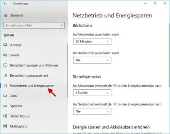 So können Sie Änderungen der Energieoptionen bei Windows 10 verwerfen