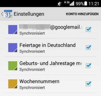 Android-Kalender und Windows 10