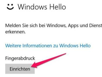 Aktivieren und Einrichten von Windows Hello