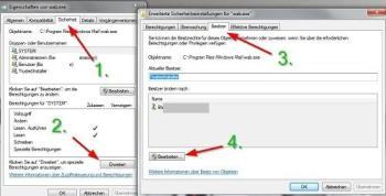 Windows: Zugriffsrechte ändern