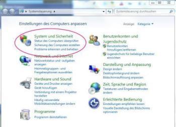 Windows-Systemsteuerung
