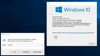 Windows-Version mit Tastenkombination herausfinden. Screenshot: CHIP