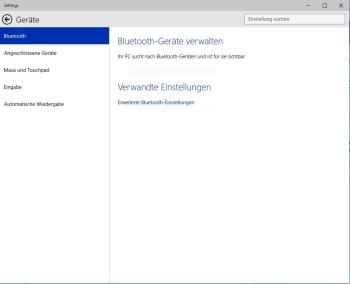 Windows 10: Bluetooth starten