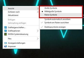 Desktop-Icons verkleinern
