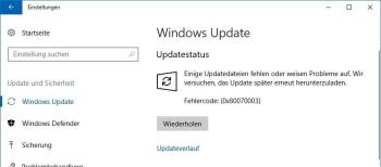 Update-Fehler beheben 0x80070003