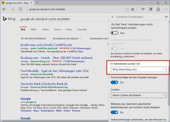 Bings Standard-Suchmaschine bei Google wechseln zu Firefox