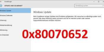 0x80070652: Update-Fehler in Windows 10