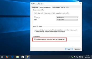 Windows 10: Screenshots automatisch in OneDrive speichern – So geht's