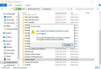 Windows 10: Speicherort der Apps