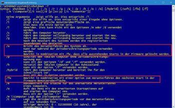 Starten Sie Windows direkt in UEFI-Shutdown