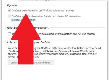 Bei dem Windows 10 – Start OneDrive deaktivieren