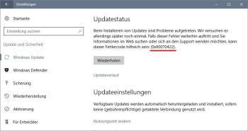 Lösung: 0x80070422 - Fehler in der Update-Suche