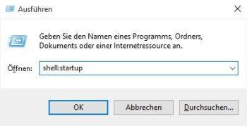 Windows 10: Autostart-Ordner öffnen