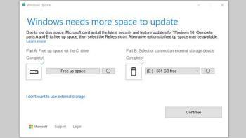 Windows 10 braucht Speicherplatz