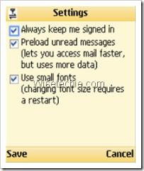 Gmail App Mobile settings