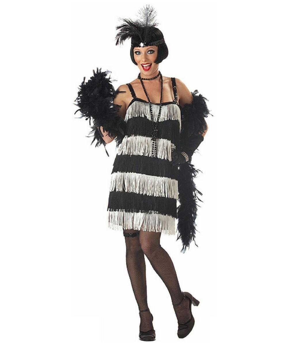 Black White Jazz Time Honey Costume Adult Costume