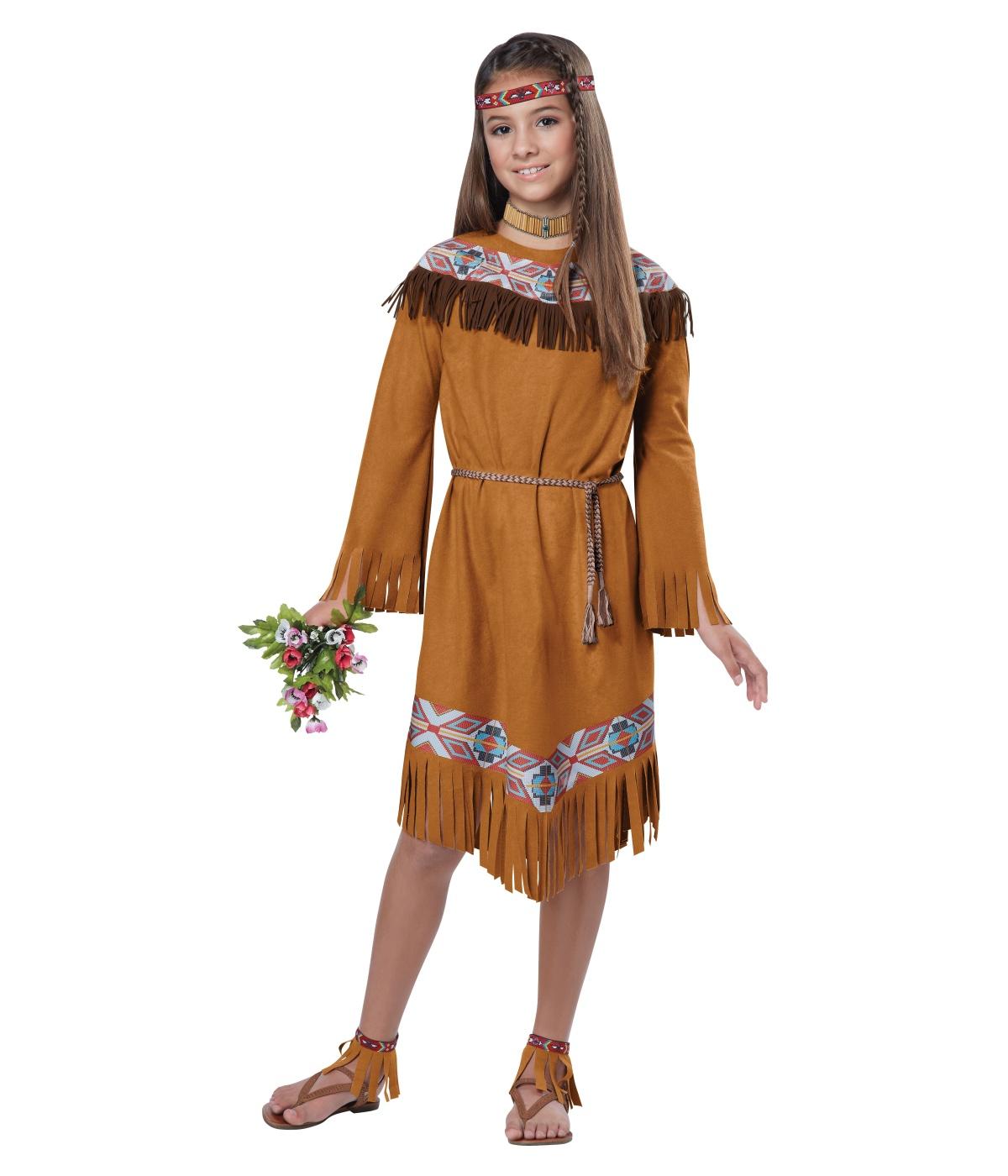 Classic Native American Indian Girl Costume