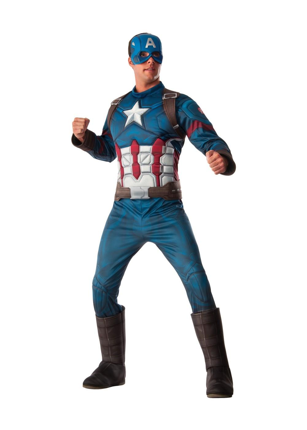 Civil War Captain America Men Costume Superhero Costumes