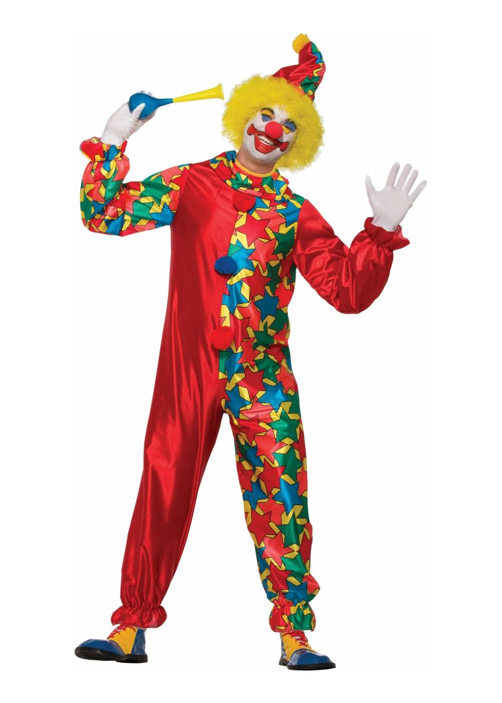 Classic Clown Men Costume Clown Costumes