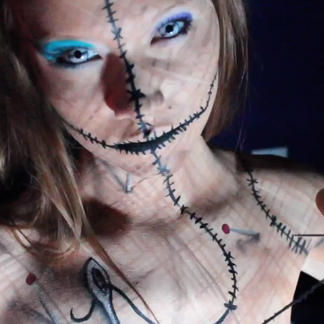 living voodoo doll halloween makeup | cartooncreative.co