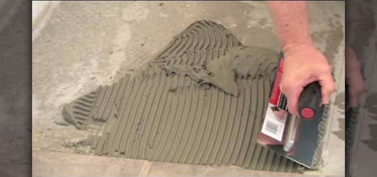 how to install ceramic tile on concrete