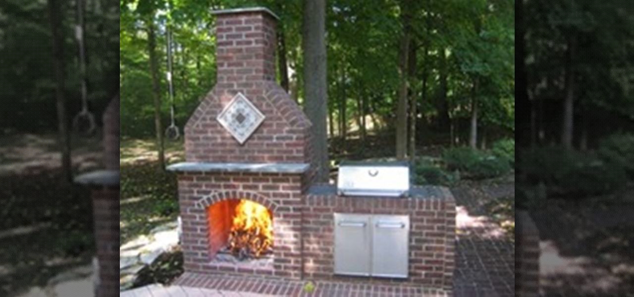 How to Build an Outdoor Brick Fireplace « Construction ... on Simple Outdoor Brick Fireplace id=55001