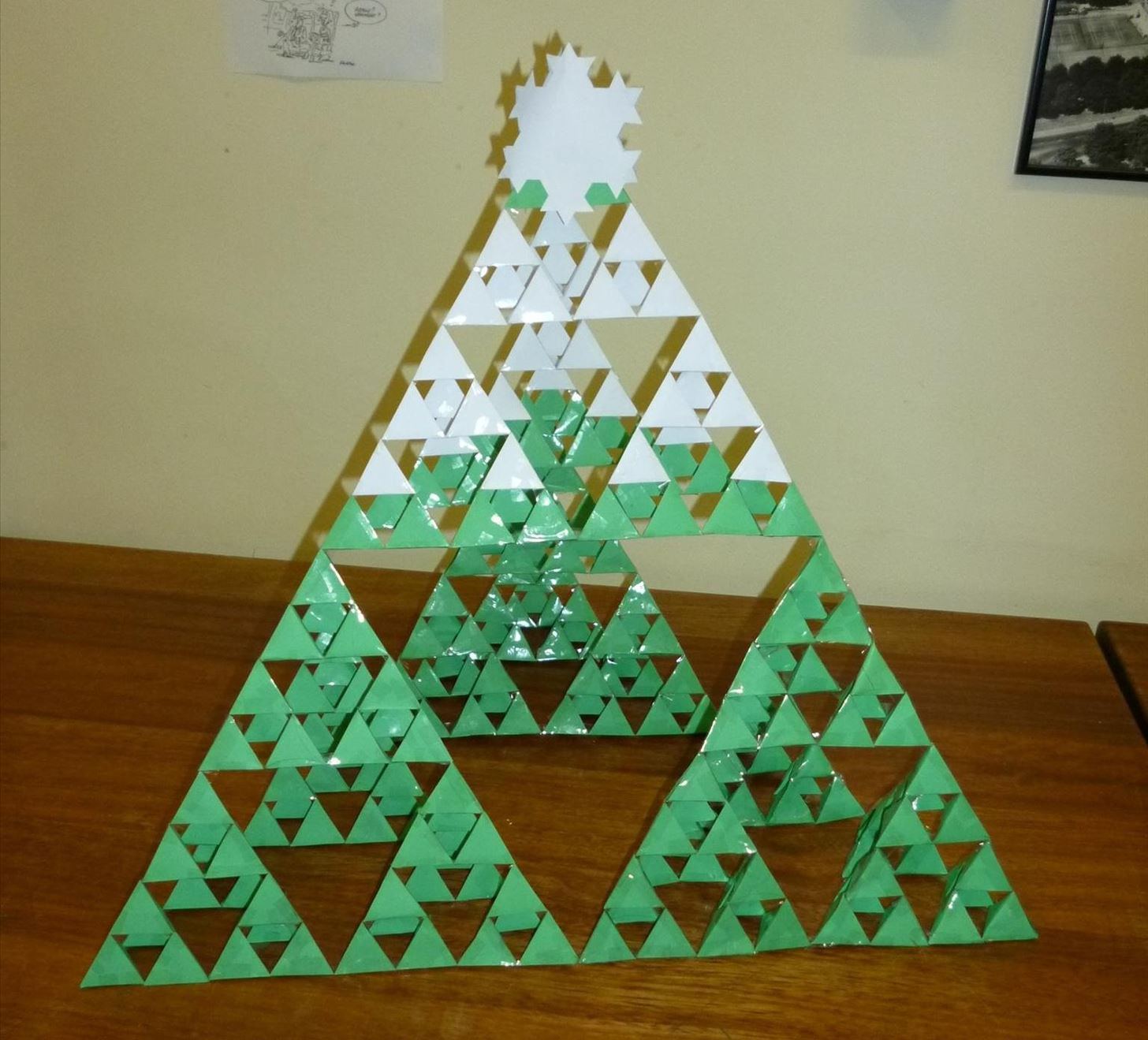 Sierpinski Christmas Tree Math Craft