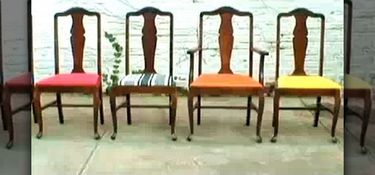 How To Re-upholster Vintage Dining Room Chairs