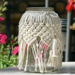 Macrame Jar Cover Candle Holder Interior Design Wonderhowto