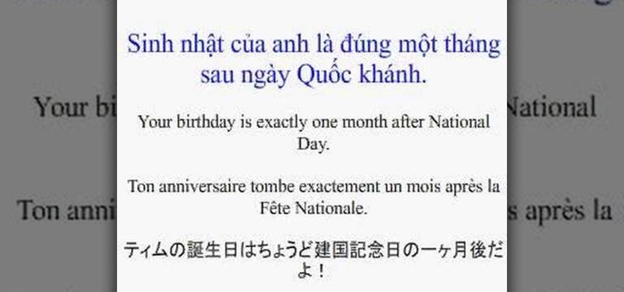 How To Say Its Your Birthday In French And Vietnamese Vietnamese Language Amp Culture