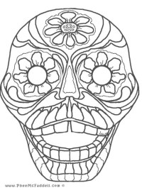 free printable halloween masks to colour