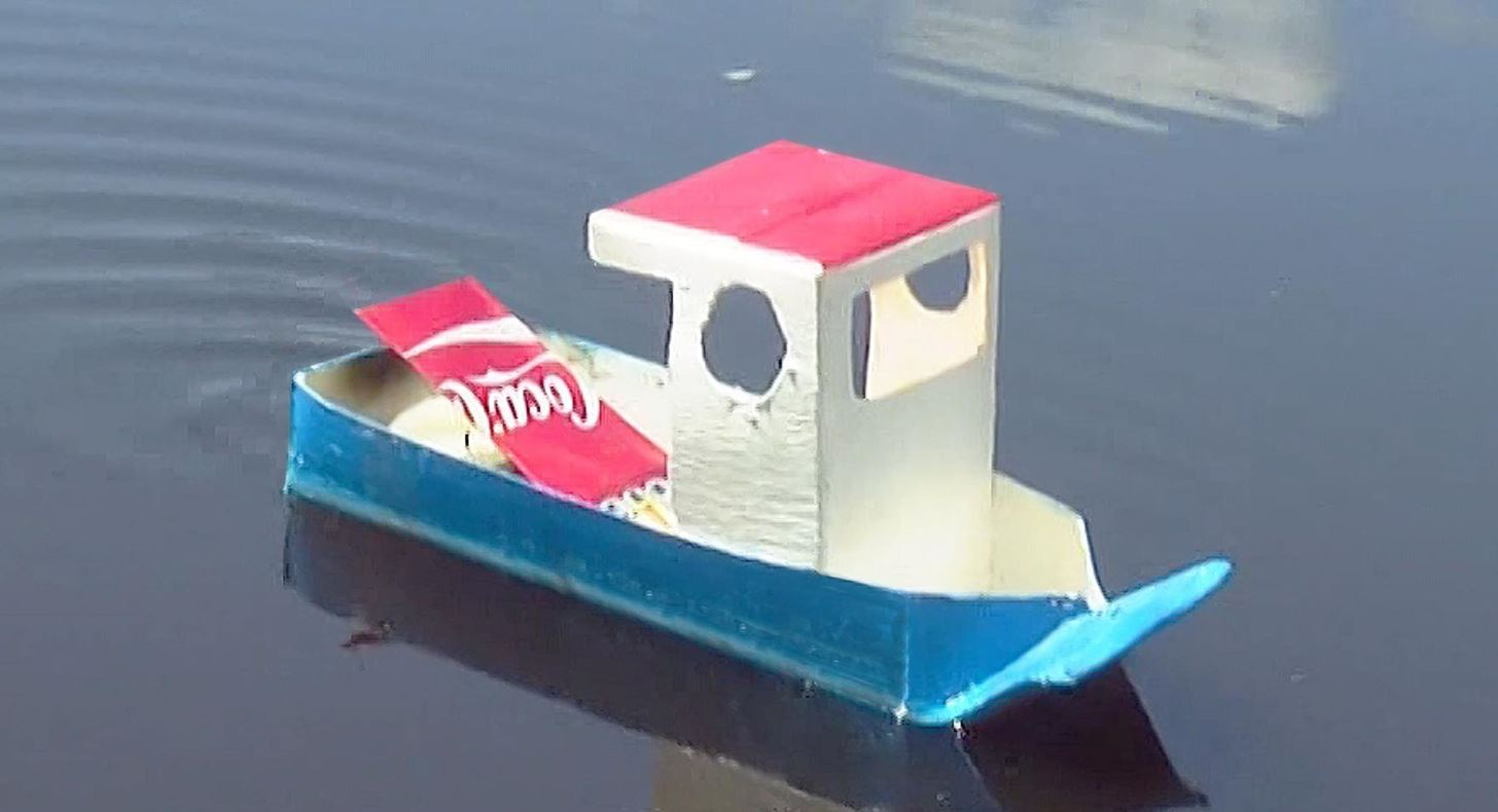 How To Make A Simple Pop Pop Boat Model Cars Rockets