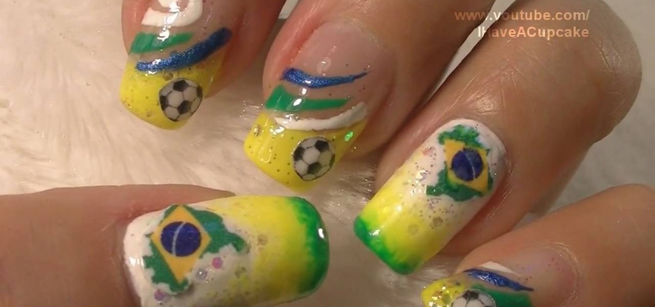 How To Do Brazil Inspired Nail Art For The 2010 World Cup