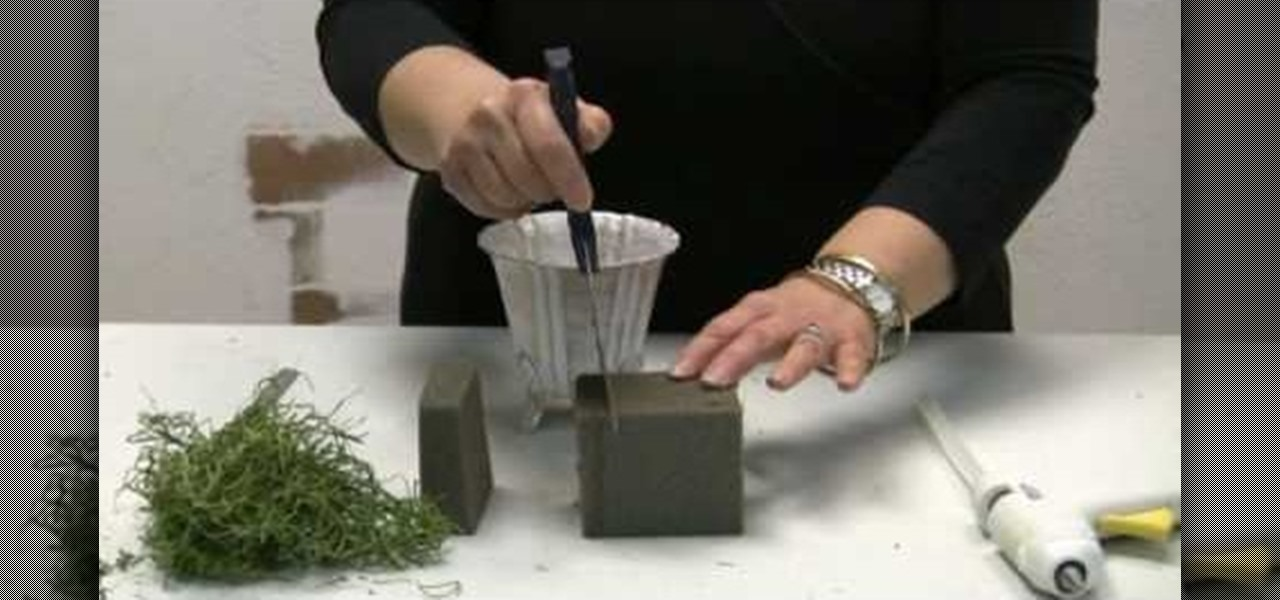 How To Foam A Container For Floral Arrangements Flower
