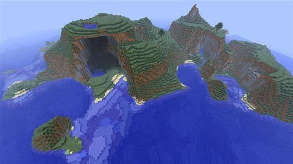 Minecraft Mountain Island Seed Xbox Minecraft XBOX ONE