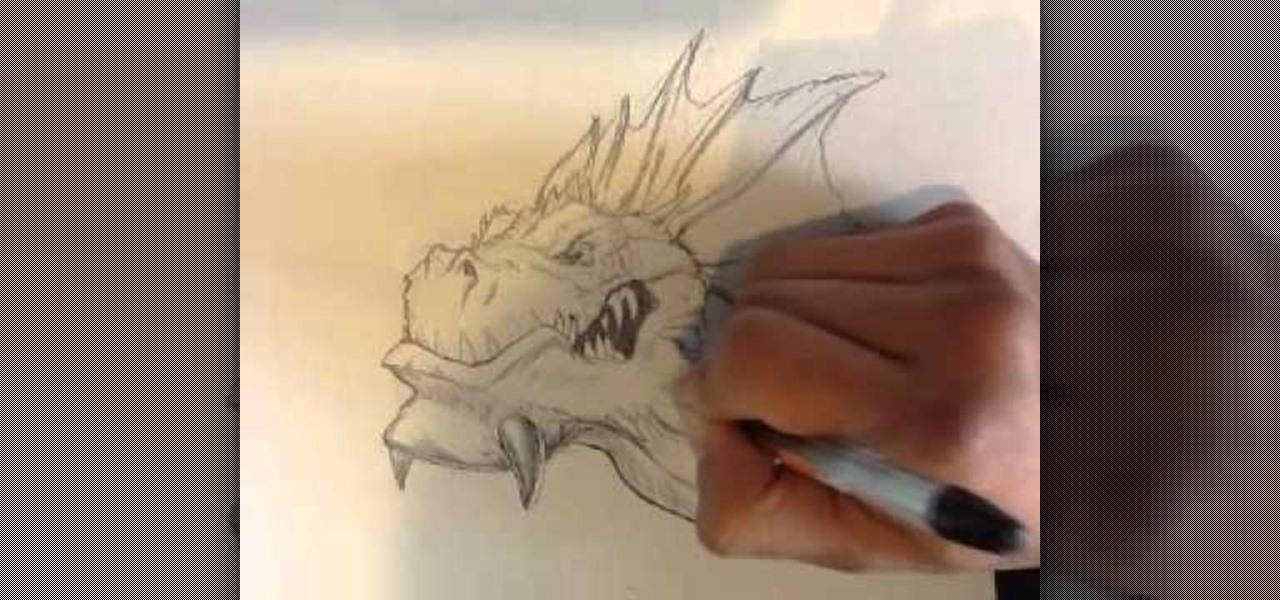 How To Draw A Dragon Head Howtodrawfantasy Wonderhowto