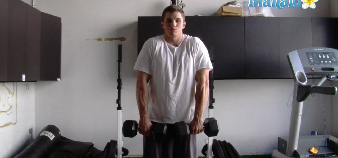 How To Do A Dumbbell Shrug Weight Lifting Exercise Routine