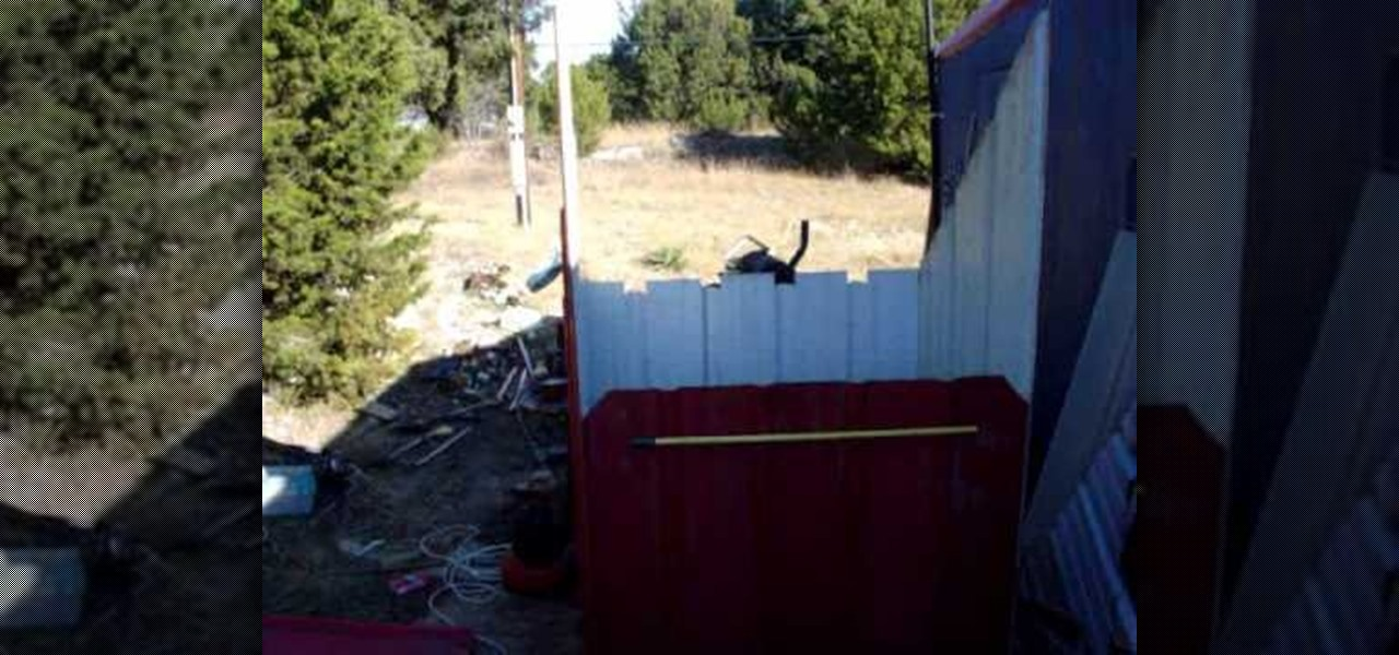 How To Make An Outdoor Wood Stove Enclosure With Roofing
