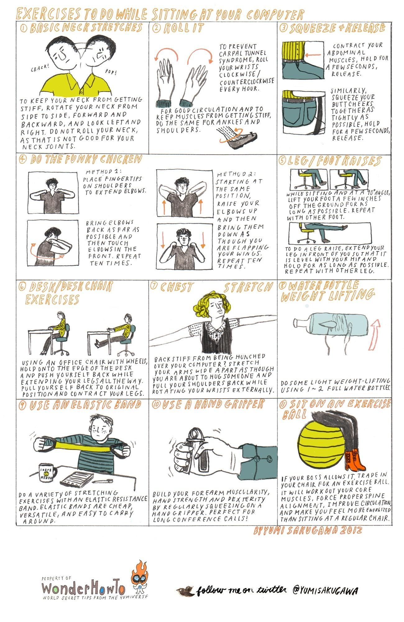 11 Exercises To Do While Sitting At Your Computer The