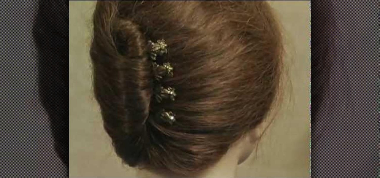 How To Style Your Hair In A French Roll With Bobby Pins