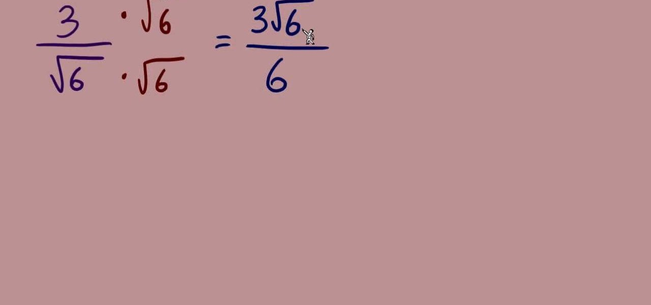 How To Rationalize The Denominators Of Radicals In Math