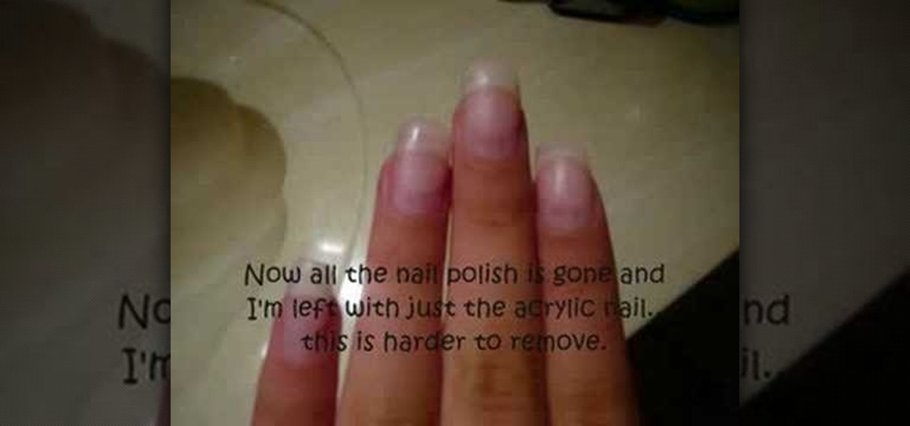 How To Remove Acrylic Nails On Your Own