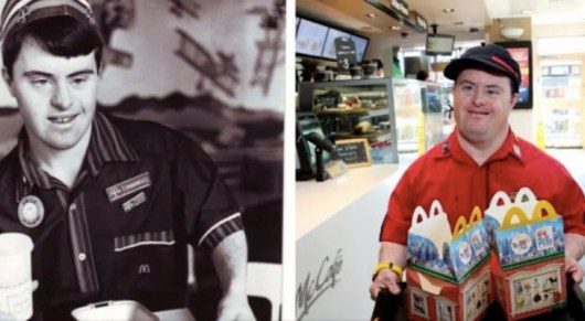 Resultado de imagem para mcdonald's worker with down syndrome retires after 32 years