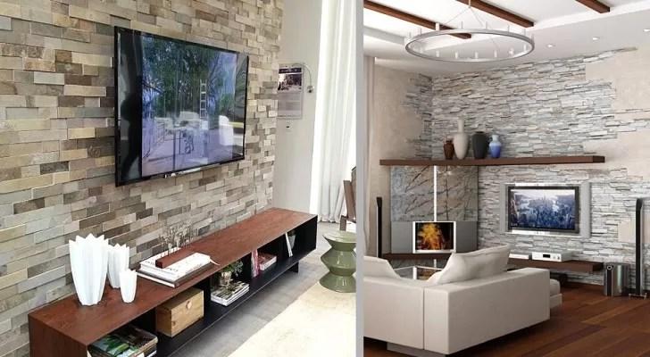 Visualizza altre idee su arredamento d'interni, arredamento, arredamento casa. 16 Progetti Creativi Per Rivestire In Pietra La Parete Della Tv E Rendere Speciale Il Vostro Salotto Creativo Media
