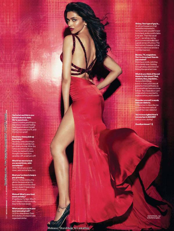 Deepika Padukone Red Alert Maxim Magazine