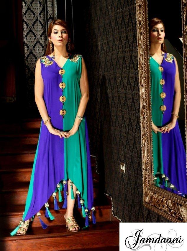 Stylish Jamdaani Fancy Dress Collection