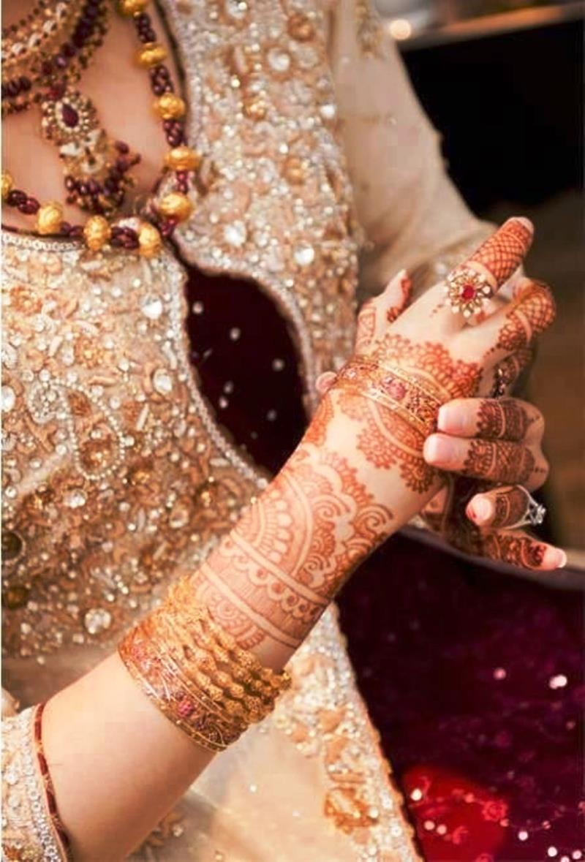 Bridal Mehndi Hand Jewelry And Bangles