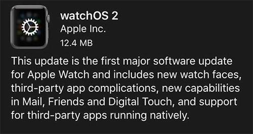 Часы Apple Watch получили watchOS 2